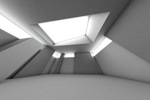 Futuristic empty room, 3D Rendering - SPCF000109
