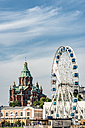 Finland, Helsinki, Uspenski Cathedral, big wheel Finnair Skywheel - CST001165