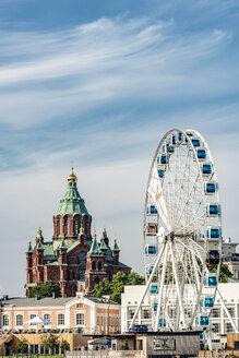 Finland, Helsinki, Uspenski Cathedral, big wheel Finnair Skywheel - CST001165
