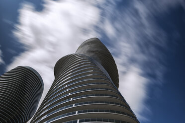 Canada, Ontario, Toronto, Absolute World Towers and moving clouds - FC001053