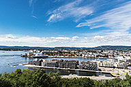 Norway, Oslo, Sorengkai and ferry port at Oslo fjord - CSTF001174