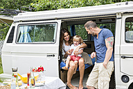 Happy family with van in the nature - FMKF002792