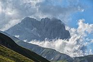 Italy, Abruzzo, Gran Sasso e Monti della Laga National Park, Corno Grande in the evening - LOMF000348