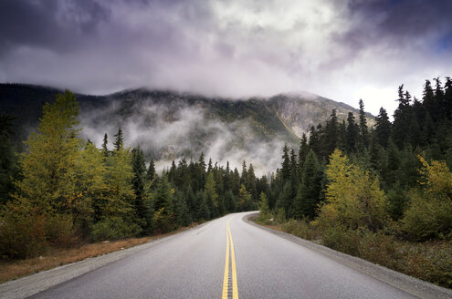 Canada, Highway, Road and dark clouds - SMAF000538