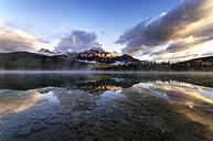 Canada, Jasper National Park, Jasper, Pyramid Mountain, Patricia Lake in the morning - SMAF000559