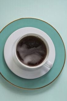 Place setting with cup of black coffee - HSTF000038