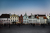 Estonia, Tallinn, market place, blue hour - CST001210
