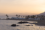 Spain, Bahia de Mazarron, Sunset at beach - SKCF000175
