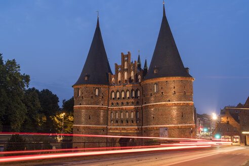 Germany, Luebeck, blue hour - PCF000263