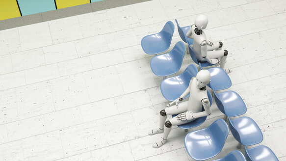 Robots sitting in waiting area - AHUF000230