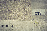 Germany, Elstal, Olympic village, partial view of concrete wall - ASCF000636