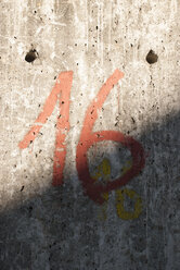 Number 16 on wall - JMF000380