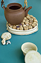 Tea pot on self made cork table mat - GIS000245