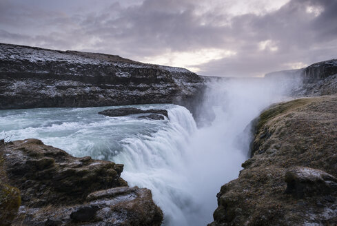 Iceland, Gullfoss waterfall at dusk - EPF000153