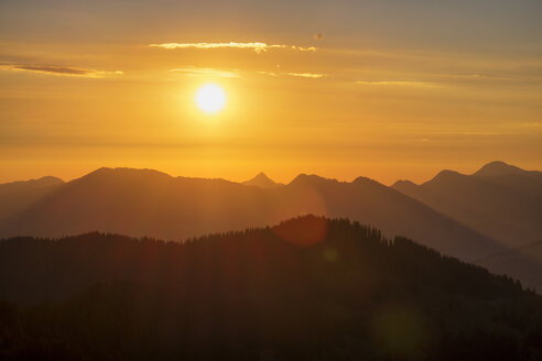 Germany, Bavaria, Allgaeu, Sunrise at the Riederberger Horn - SIEF007110