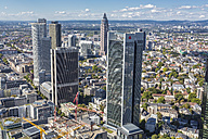 Germany, Frankfurt, view to the city with financial district from Maintower - MAB000394