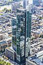 Germany, Frankfurt, view to modern Gallileo from Main Tower - MAB000397