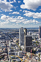 Germany, Frankfurt, view to the city with financial district from Maintower - MAB000400