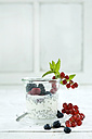 Chia pudding with fresh fruits in glass - ASF006016