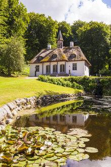 Denmark, Moen Island, Stege, Liselund Castle, park and pond - WD003742