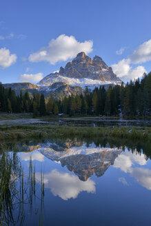 Italy, Dolomites, Tre Cime di Lavaredo at morning light - RUEF001752