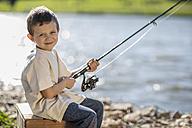 Little boy fishing in lake - ZEF010226