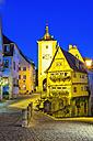 Germany, Rothenburg ob der Tauber, Ploenlein by night - WGF000953