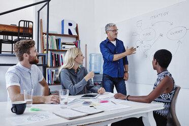 Businessman leading a presentation in boardroom - RORF00254