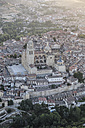 Spain, Segovia, aerial view of the Cathedral - ABZF01218