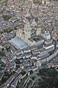 Spain, Segovia, aerial view of the Cathedral - ABZF01221