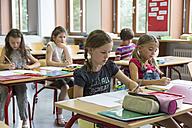 Schoolgirls at class - SARF02881