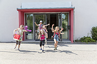 Happy pupils leaving school - SARF02902