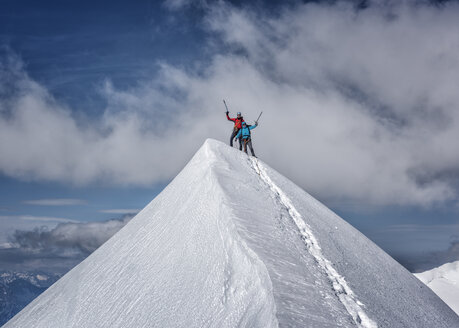 Italy, Gressoney, Alps, Lyskamm, mountaineers - ALRF00728