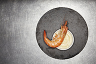 Prawn on bowl with mayonnaise - SCF00479