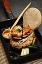 Asian style prawn burger with mushrooms and soy sprouts - SCF00482