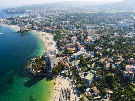 Spain, Mallorca, Palma de Mallorca, Aerial view, beaches and hotels of Palmanova and Torrenova - AMF04977