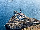 Spain, Mallorca, Palma de Mallorca, Aerial view, Cap de Cala Figuera, lighthouse - AMF04986