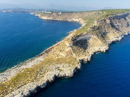 Spain, Mallorca, Palma de Mallorca, Aerial view, Cala Rafeubetx - AMF04989