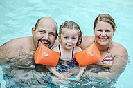 Family portrait in swimming pool - SHKF00681