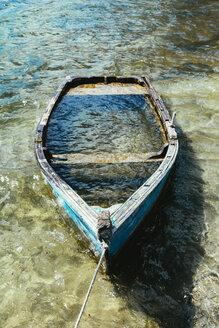 Wooden boat sunk in a lake - GEMF01053