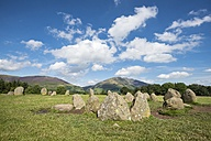 UK, Lake District, view to Castlerigg Stone Circle - ELF01819