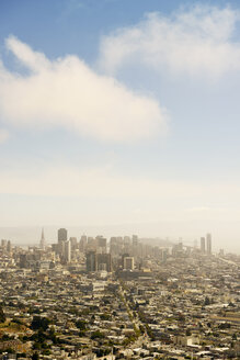 USA, California, San Francisco, view on Financial District with Twin Peaks Boulevard - BRF01359