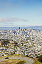 USA, California, San Francisco, view from Twin Peaks on Financial District with Twin Peaks Boulevard - BRF01407