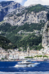 Italy, Campania, Province of Salerno, Amalfi coast, Amalfi, yacht - THA01775