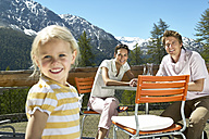 Happy family on panorama terrace in the mountains - FSF00507