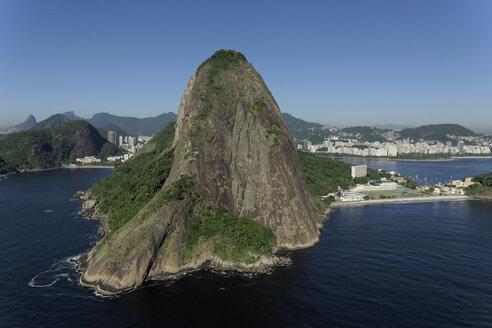Brazil, Rio de Janeiro, Aerial photograph of Sugarloaf Mountain - BCDF00028