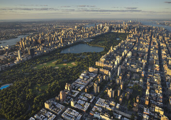 USA, New York City, Aerial photograph of Central Park in Manhattan - BCDF00043