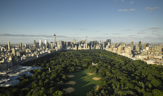 USA, New York City, Aerial photograph of Central Park in Manhattan - BCDF00046