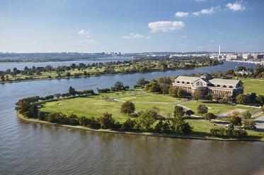 USA, Washington, D.C., Aerial photograph of National War College - BCDF00100