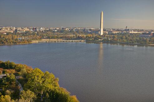 USA, Washington, D.C., Aerial photograph of Washington Monument - BCDF00124